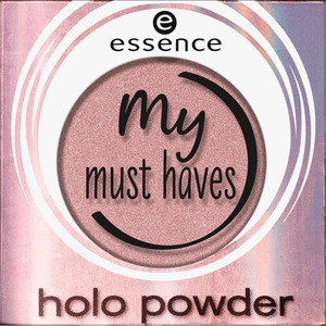 essence cosmetics Lidschatten my must haves holo powder cotton candy 02