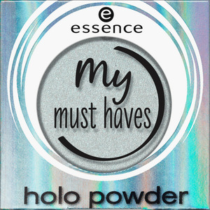 essence cosmetics Lidschatten my must haves holo powder mint muse 04