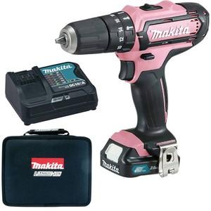 Makita Akku Schlagbohrschrauber HP331DSAP1 Pink 1 Akku 12V / 2,0Ah in Tasche