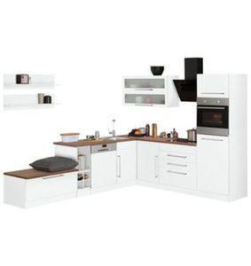 HELD MÖBEL Winkelküche mit E-Geräten »Samos«, Stellbreite 300/250 cm