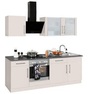 WIHO-Küchen Küchenzeile »Cali« mit E-Geräten, Breite 220 cm