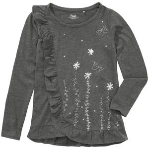 Mädchen Langarmshirt mit Glitzer-Print