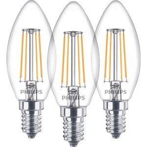 Philips LED-Lampe Kerzenform 3er-Pack E14/ 4,3 W (470 lm) Warmweiß EEK: A++