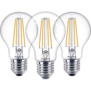 Philips LED-Lampe Glühlampenform 3er-Pack  E27/ 7 W (806 lm) Warmweiß EEK: A++