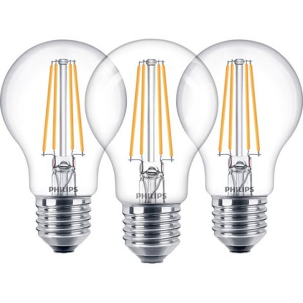 Philips Led Lampe Gluhlampenform 3er Pack E27 7 W 806 Lm Warmweiss