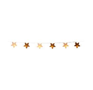 LED-Lichterkette mit Jute-Sternen