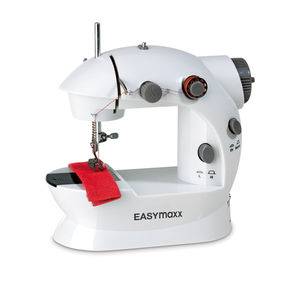 Easymaxx Mini-Nähmaschine mit Fußpedal, ca. 20x21cm