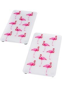 "Herdabdeckplatten ""Flamingo"" (2-tlg. Set)"