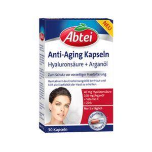 Abtei Anti-Aging Kapseln Hyaluronsäure + Arganöl