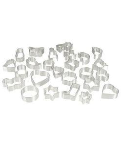 Plätzchenausstecher - verschiedene Formen und Größen - ca. 4 - 7,5 cm, 25-tlg. Set