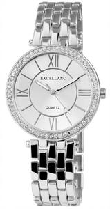 Excellanc 1509 Damen Armbanduhr Edelstahl