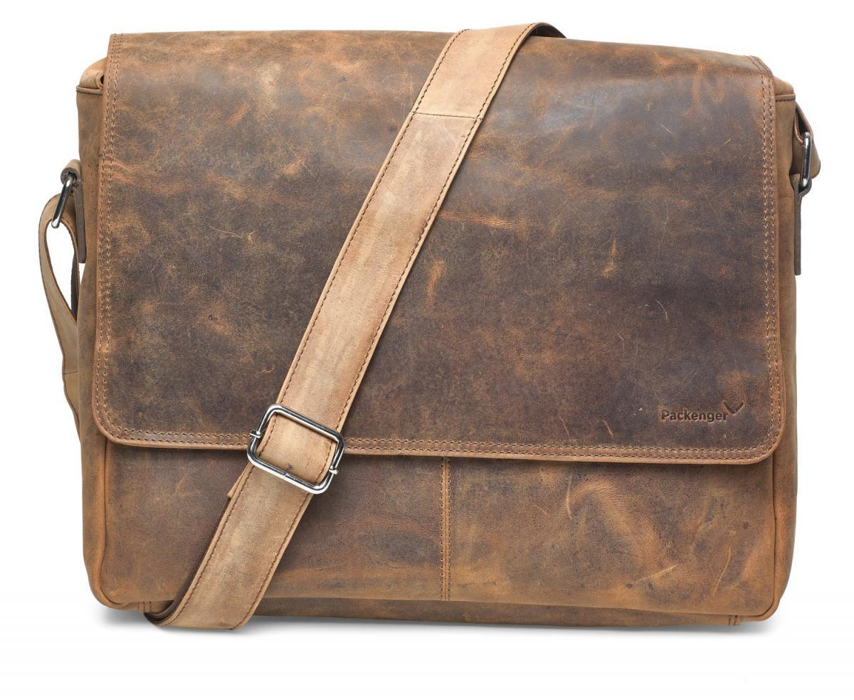 Bild 2 von Vethor Umhängetasche Messenger Bag bis 15 Zoll aus Leder