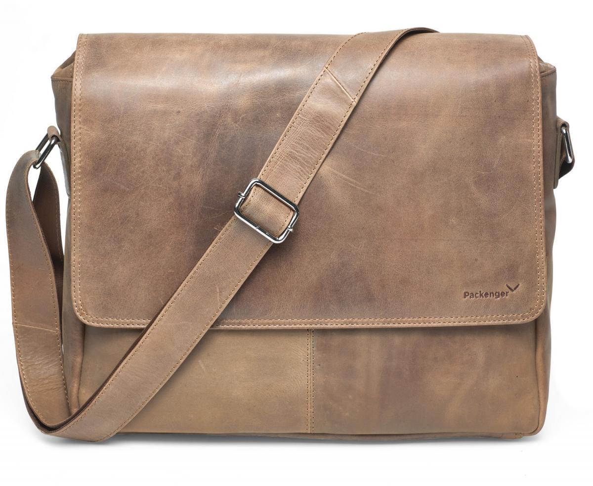 Bild 4 von Vethor Umhängetasche Messenger Bag bis 15 Zoll aus Leder