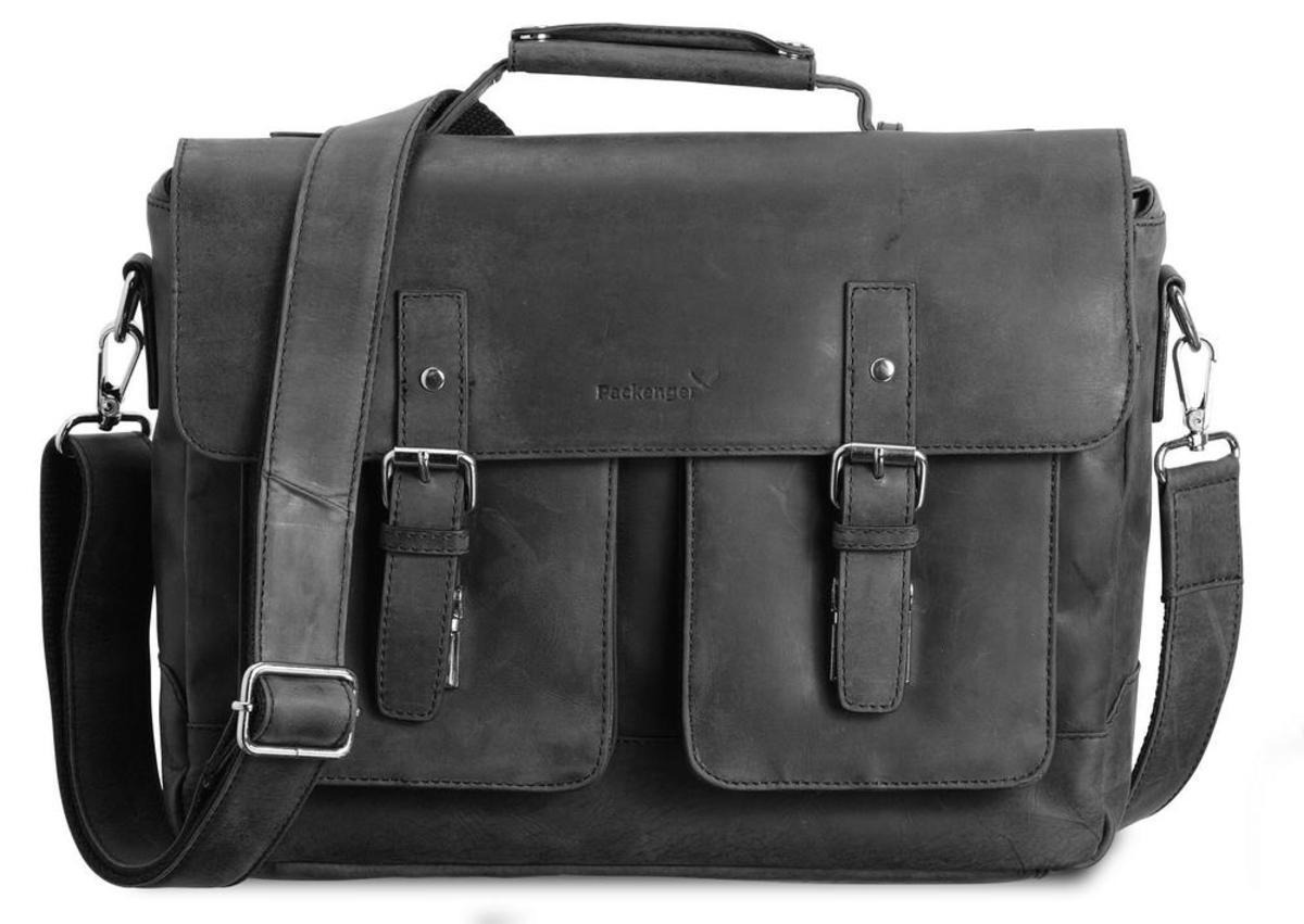 Bild 1 von Kolbjorn Umhängetasche Messenger Bag bis 15 Zoll aus Leder