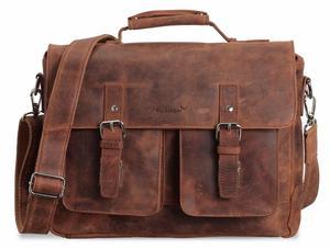 Kolbjorn Umhängetasche Messenger Bag bis 15 Zoll aus Leder