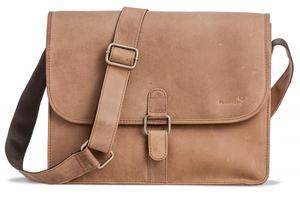 Packenger Aslang Umhängetasche Messenger Bag bis 13 Zoll aus Leder