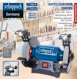 Scheppach Doppelschleifer SM200L