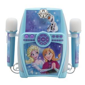 Disney Frozen Karaoke Anlage f. Kinder mit 2 Mikrofonen Karaokemaschine FR-615 blau