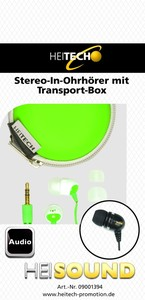 Heitech Stereo In-Ohrhörer mit Transportbox