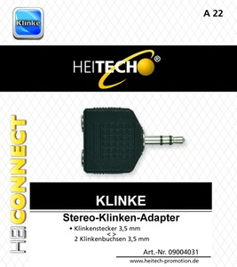 Heitech Stereo-Adapter,3,5mm