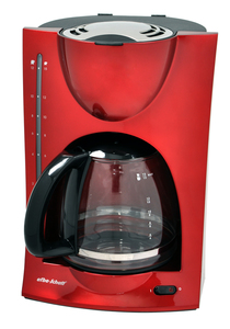 Efbe-Schott Kaffeeautomat SC KA 1050 R rot-metallic 1,5 Liter Glaskanne
