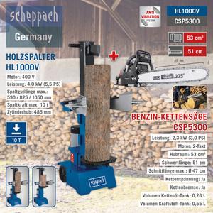 Scheppach XXL Holz-Kombi-Paket, 10 T