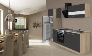respekta Economy Küchenblock 270 cm, grau