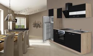 respekta Economy Küchenblock 270 cm, schwarz