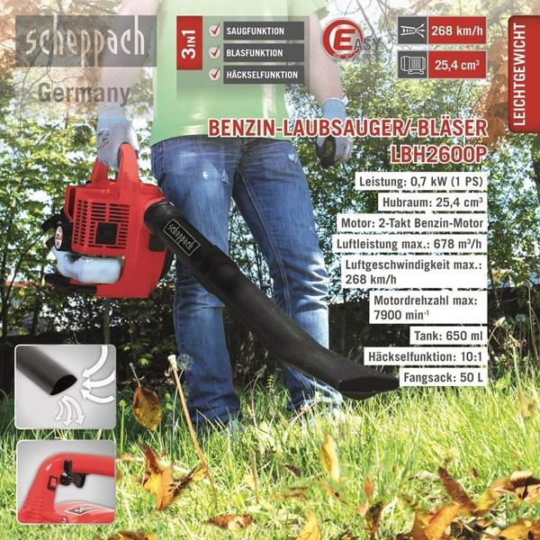 Scheppach Benzin-Laubbläser LBH2600P