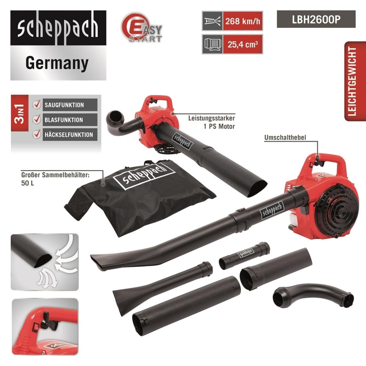 Bild 4 von Scheppach Benzin-Laubbläser LBH2600P
