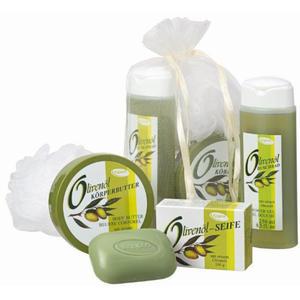 Kappus Olivenöl Trio Geschenkset mit Schwamm