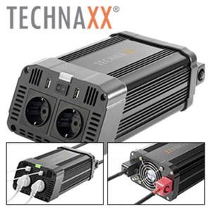 KFZ-Wechselrichter TE 16 zur Nutzung von klassischen Elektrogeräten, 12 V auf 230 V, automatische Abschaltung und Überlastschutz, eingebaute Ventilation, Maße: ca. H 10 x B 16 x T 29 cm