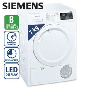 Kondenstrockner iQ300 WT43N201 · vollelektron. Einknopf-Bedienung · Spezialprogramme für Wolle, Outdoor, Hygiene und Kurzprogramme · Maße: H 84,2 x B 59,8 x T 59,9 cm · Energie-Effizienz B (Spe