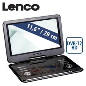 """11,6""""-LCD-TV/DVD DVP-125 mit DVB-T2 H.265 Standard, integr. Li-Ionen-Akku, USB-Anschluss/SD-Kartenslot, inkl. Netz-/12-Volt Adapter, Aktive-Antenne und IR-Fernbedienung (kein Empfang verschlüsselter"""