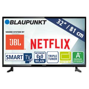 """32""""-LED-HD-TV BLA-32/148M H.265, 3 HDMI-/2 USB-Anschlüsse, CI+, 2 x 10 Watt RMS, Stand-by: 0,5 Watt, Betrieb: 31 Watt, Maße: H 44,5 x B 73,9 x T 8,6 cm, Energie-Effizienzklasse A+ (Spektrum A++ bis"""