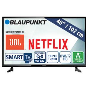 """40""""-FullHD-LED-TV BLA-40/148M H.265, 3 HDMI-/2 USB-Anschlüsse, CI+, Stand-by: 0,5 Watt, Betrieb: 48 Watt, Maße: H 55,2 x B 92,8 x T 9,1 cm, Energie-Effizienzklasse A+ (Spektrum A++ bis E)"""