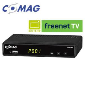 FullHD-DVB-T2-Receiver SL65T2 PVRready 4-stelliges Display, Aufnahme-Funktion über USB (PVRready), HEVC/H.265, bis 1080p möglich, EPG, HDMI-/Scart-/USB-/Ethernet-Anschluss