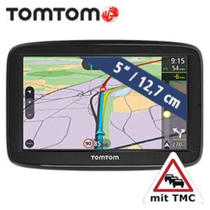 Navigationssystem Via 52 EU inkl. Free Lifetime Maps** · Sprachsteuerung Speak & Go   · Smartphone Verkehrsinformationen  · TMC-Modul im Ladekabel integriert · KFZ-Halterung