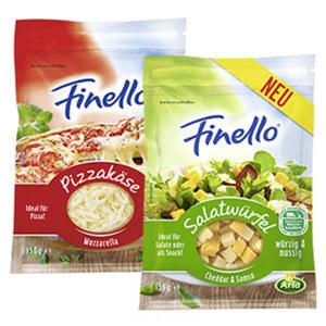 Arla Finello Pizzakäse oder Salatwürfel, 40 - 47 % Fett i. Tr. und weitere Sorten, jeder 150-g-Beutel