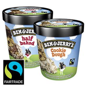 Ben & Jerry`s Eiscreme  versch. Sorten,  (ausgenommen Vegane-Sorten) jeder 500-ml-Becher
