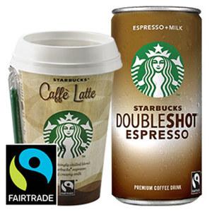 Starbucks Coffee versch. Sorten, jede 200-ml-Dose/jeder 220-ml-Becher