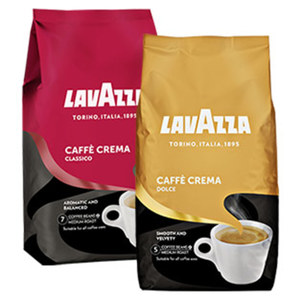 Lavazza Caffé Crema Classico, Dolce oder Gustoso jede 1000-g-Packung