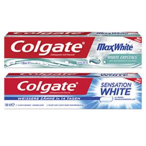 Colgate Zahncreme Max White, Max Fresh oder Sensation White, jede 100-ml-Packung