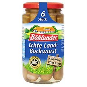 Böklunder Echte Landbockwurst in Eigenhaut, jedes 6 Stück = 180-g-Glas