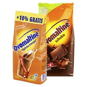 Ovomaltine Original 500 g + 10% gratis oder Schoko 450 g, jede Promotion-Packung/Nachfüllbeutel