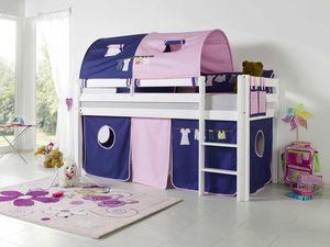 Relita Halbhohes Spielbett ALEX mit Stoffset Kleider