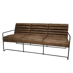 Sofa Voda I (3-Sitzer) - Antiklederlook - Cubanit, ars manufacti