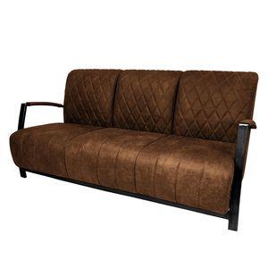 Sofa Manchester III (3-Sitzer) Antiklederlook - Mittelbraun, ars manufacti