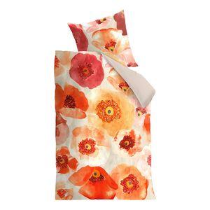 Bettwäsche Oilily Faded Poppy - Baumwollstoff - Orange / Rot - 155 x 220 cm + Kissen 80 x 80 cm, OILILY