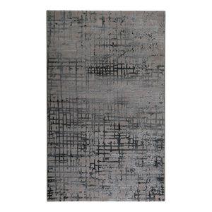 Teppich Velvet Grid - Kunstfaser - Taupe / Hellgrau - 160 x 225 cm, Esprit Home